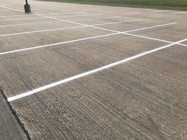 parking lot striping on concrete