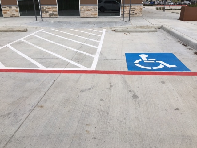 firelane and handicap striping