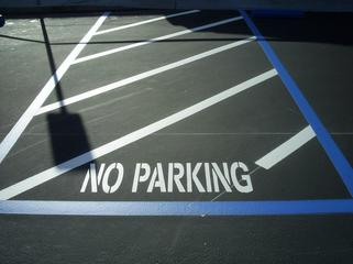 No Parking Parking Lot Marking and Striping