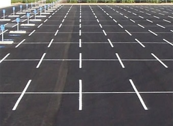 Painted Strips Parking Lot Plano